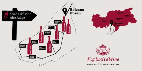 Itinerari strada del vino dell'Alto Adige